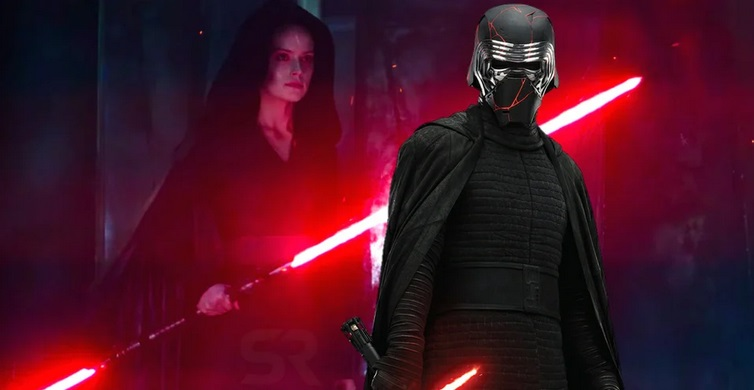 dark rey vs kylo ren