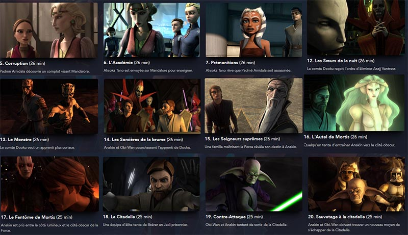 Episodes a voir the clone wars saison 3