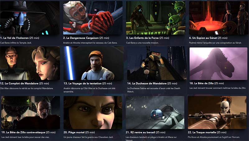 episode the clone wars saison 2 a regarder